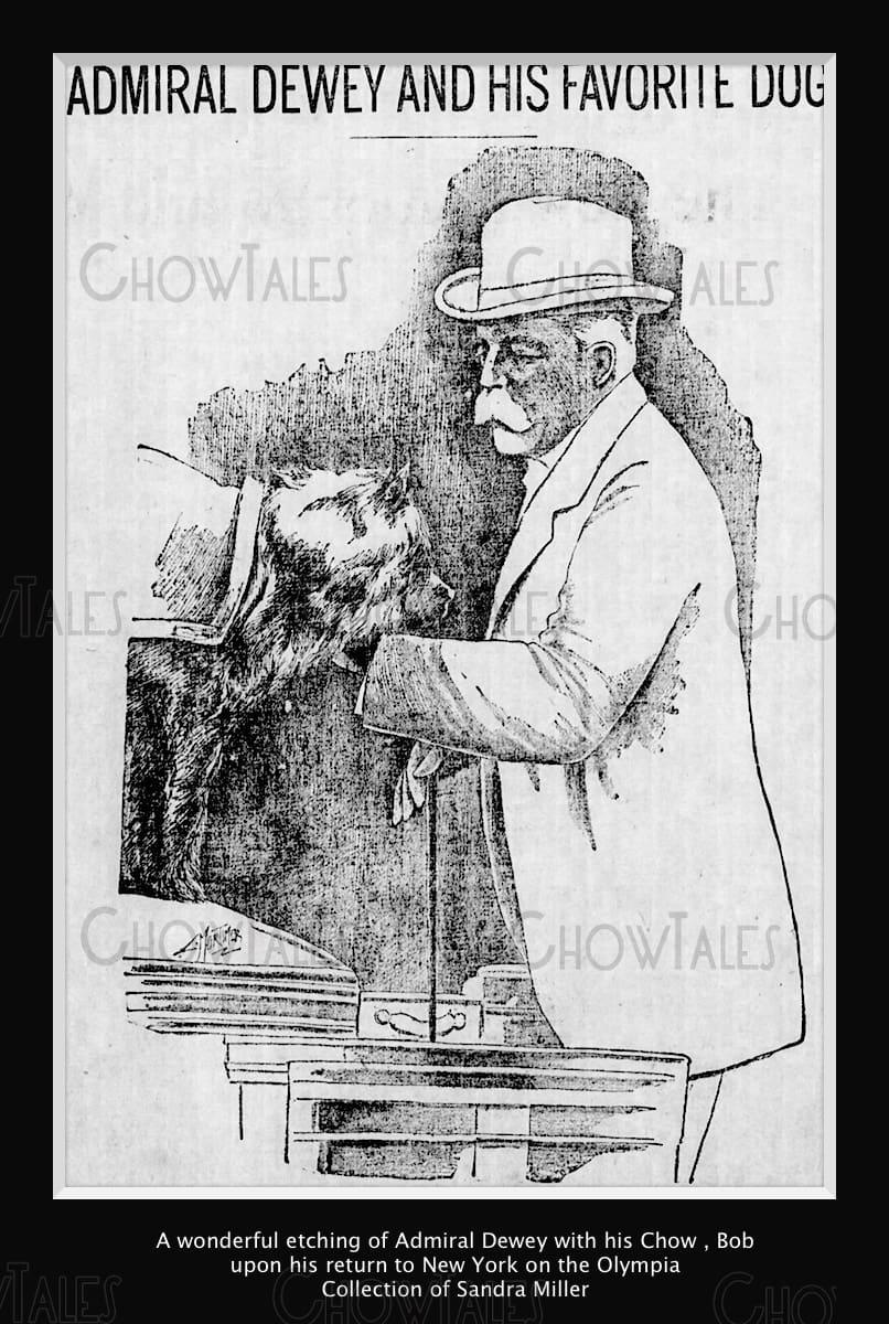 Admiral Dewey and Bob 1899 Sketch September 24