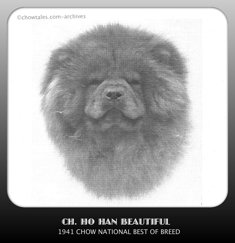 1941 national specialty winnerCh. Ho Han BeautifulBitch