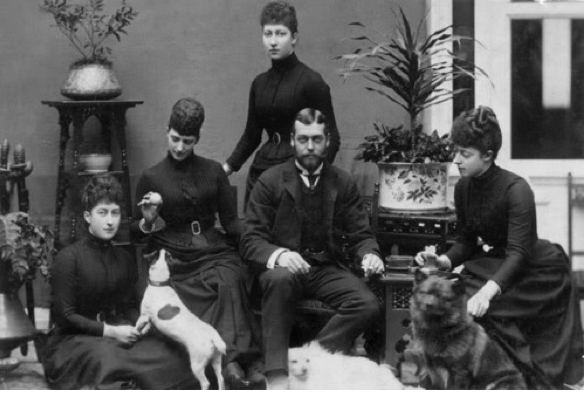 """1892 mourning for Prince Albert Victor """"Eddy"""""""