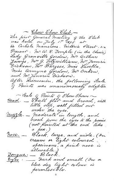 handwritten chow standard page 1 - Version 2