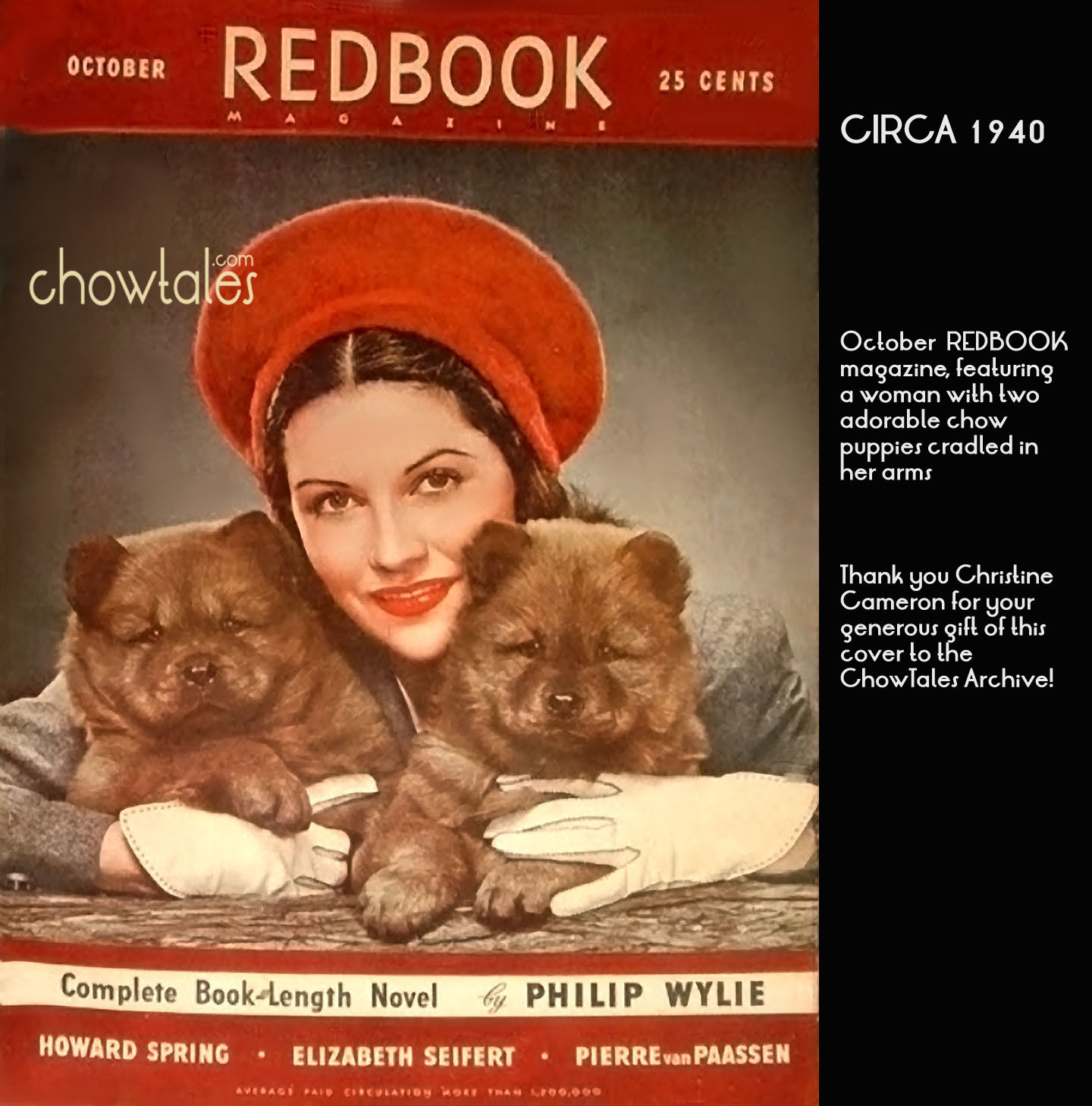 REDBOOK Magazine Chows collage 1940 - ChowTales
