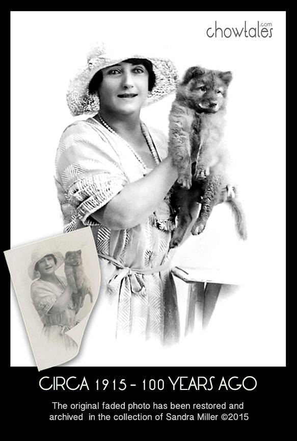 QUEEN MUM AND CHOW 1915