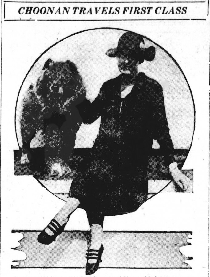 JULY 1925 NEWS CLIPPING. BRILLIANTINE TRAVELS TO USA WITH MRS WILLIAM S BAER