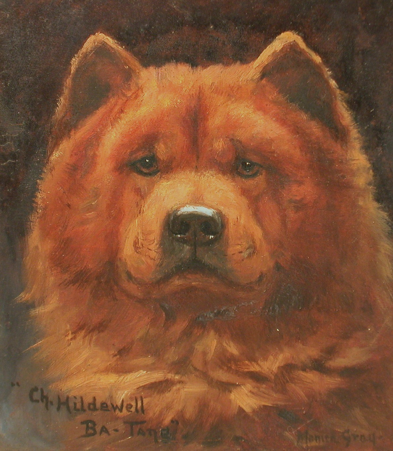 "Oil on Panel painting ""Ch. Hildwell Ba Tang"" by Monica Gray ca 1910"