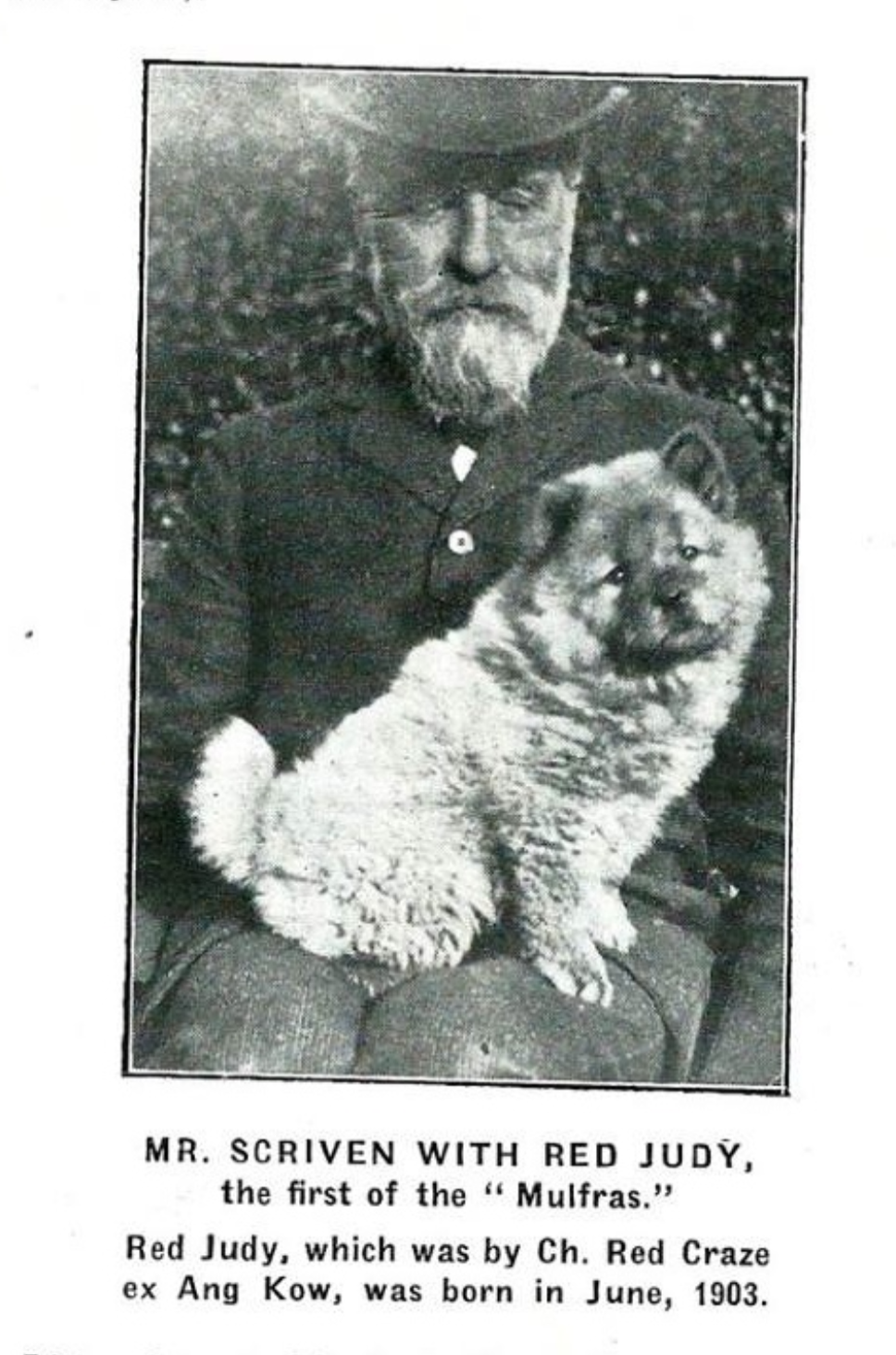 William Scriven with Red Judy 1903- Click to article